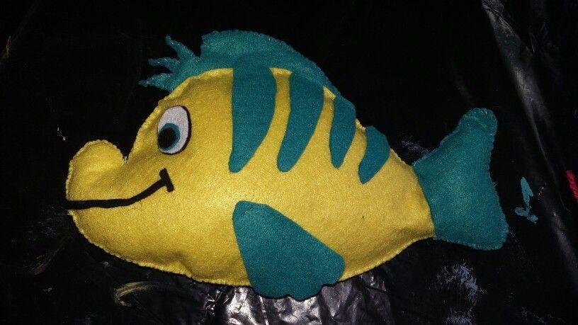 Flounder La Sirenita Fieltro Pez Sirenita Sirenas Sirena Y
