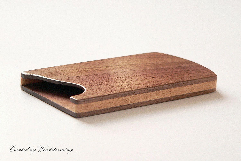 modern-wood-business-card-holder | Stuff to Buy | Pinterest | Wood ...