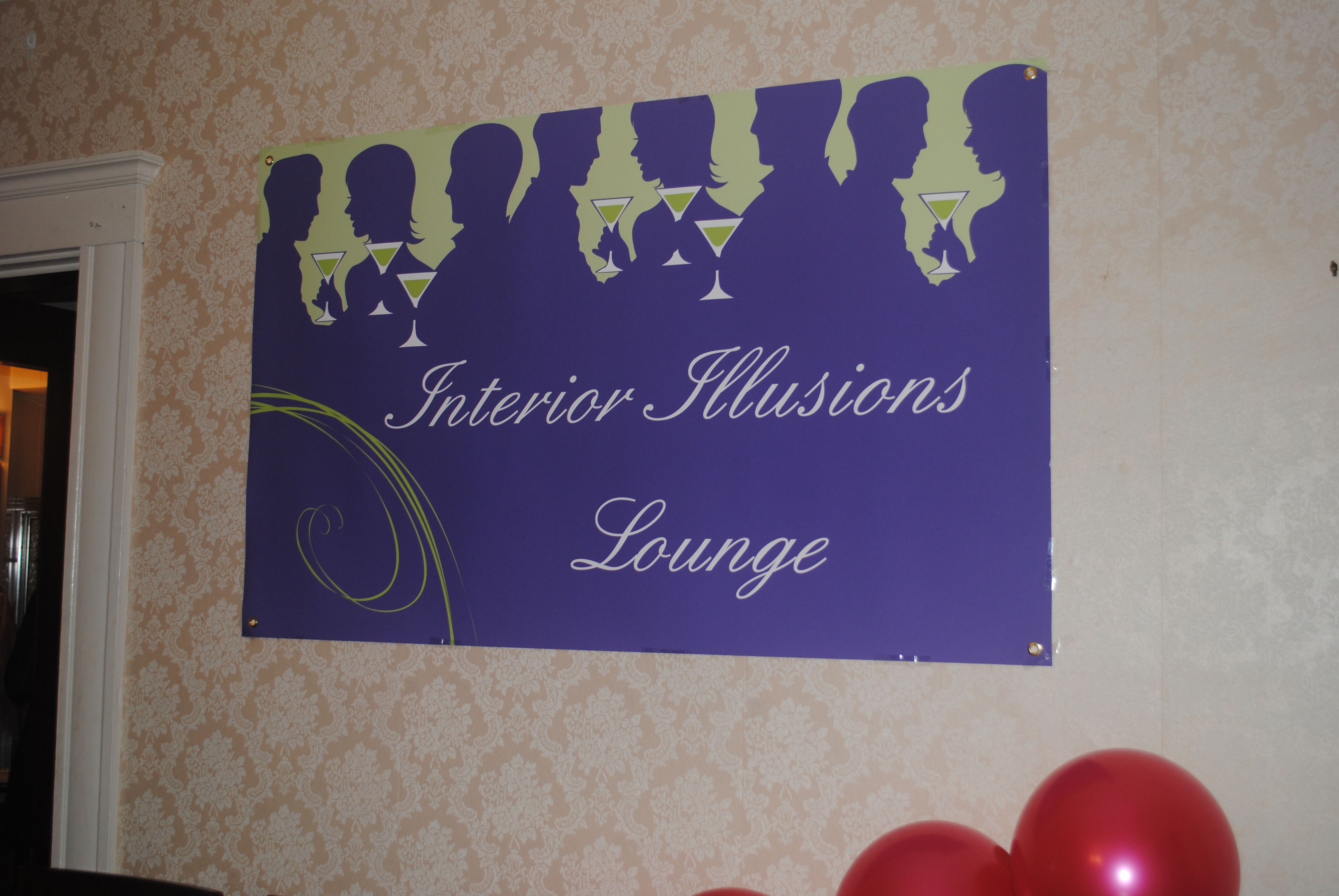 Interior Illusions Lounge poster. Each room at the party had a Rupaul themed name. Created at
