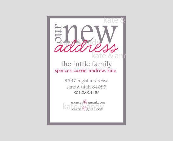 New Address New Address Card Custom Digital File Printable New