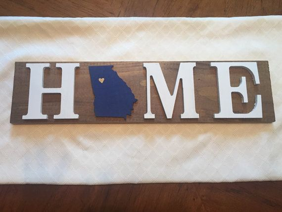 Home Georgia Tech Wooden Sign by DogMomDecor on Etsy
