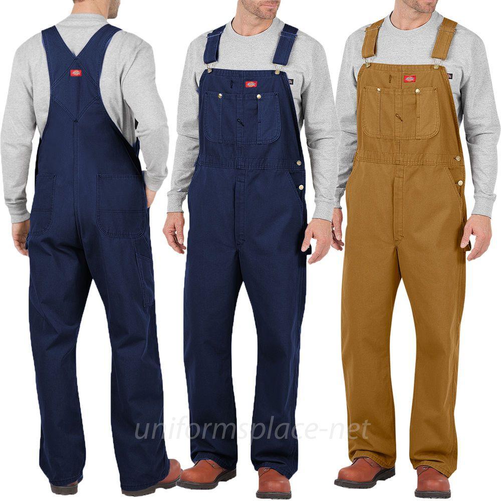 Dickies Bib Overalls Mens Cotton Bib Overall Db100 Brown Duck