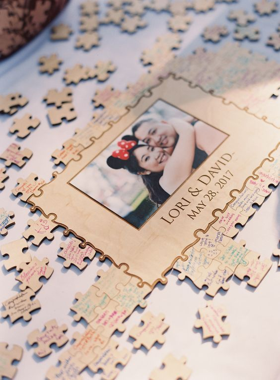 20 Puzzles and Jenga Wedding Guestbook Ideas | Roses & Rings - Part 2