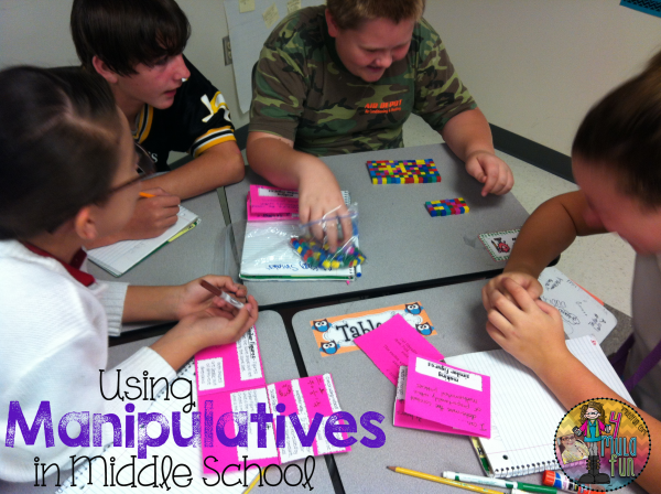 Math Manipulatives For Middle School 6th Grade Pinterest Math