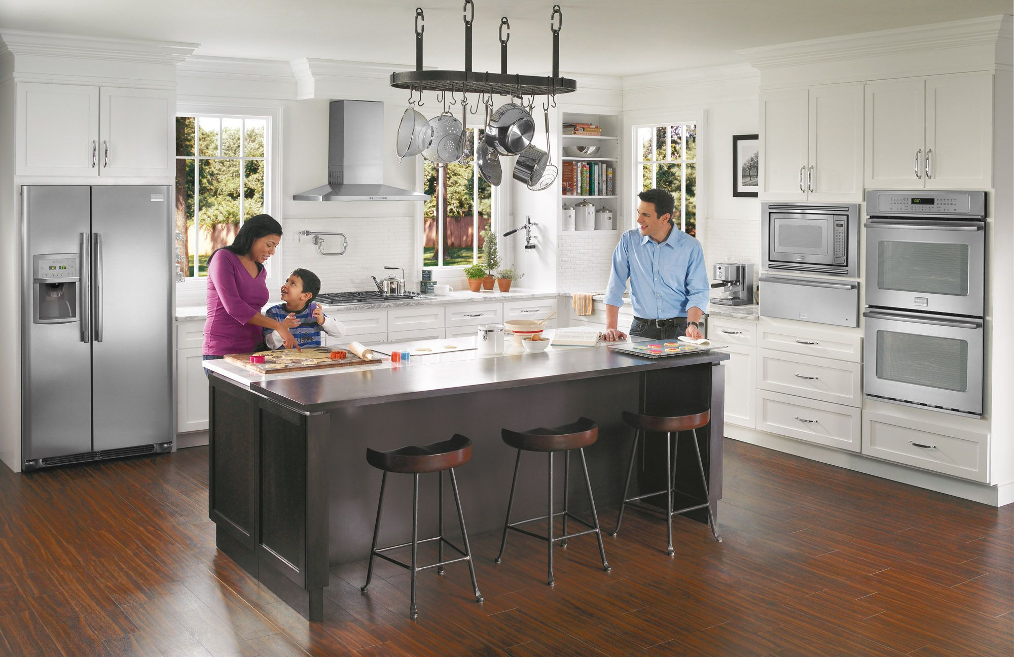 Frigidaire Pro kitchen appliances. What a beautiful space! And we ...