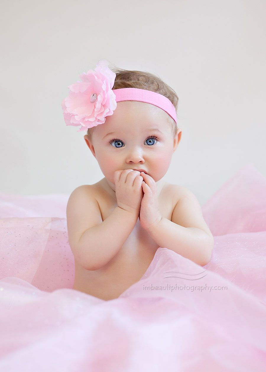 8 month old baby girl portrait