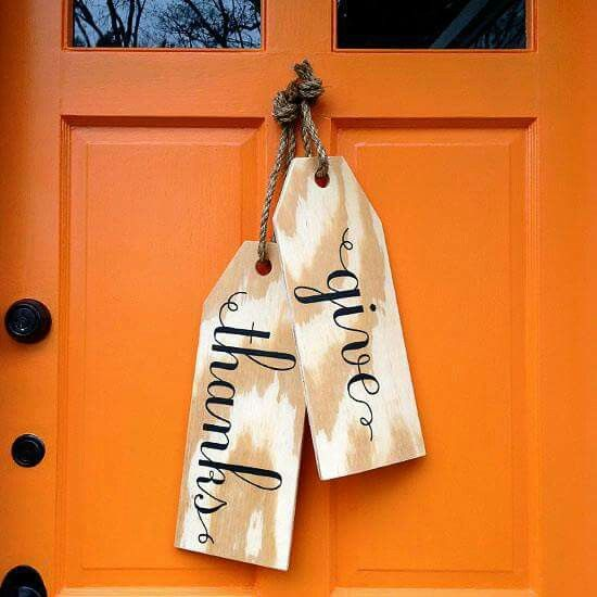 Customize wood tags with special messages to meet guests...Will Try this!