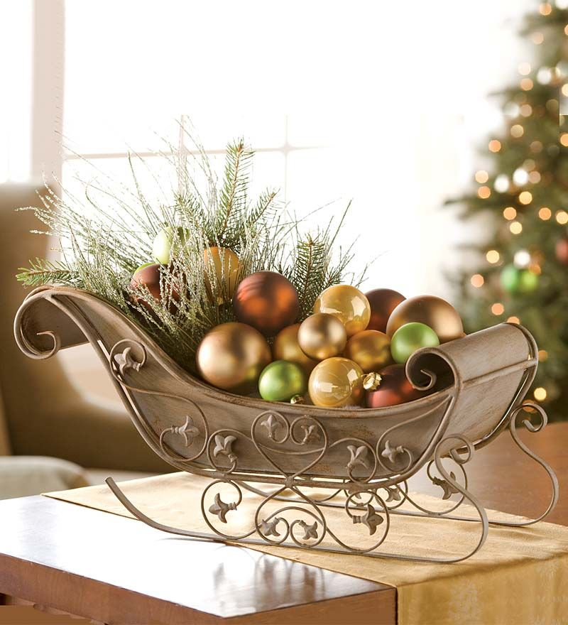 Distressed Metal Decorative Tabletop Sleigh - Distressed Metal Decorative Tabletop Sleigh Plow & Hearth Holiday