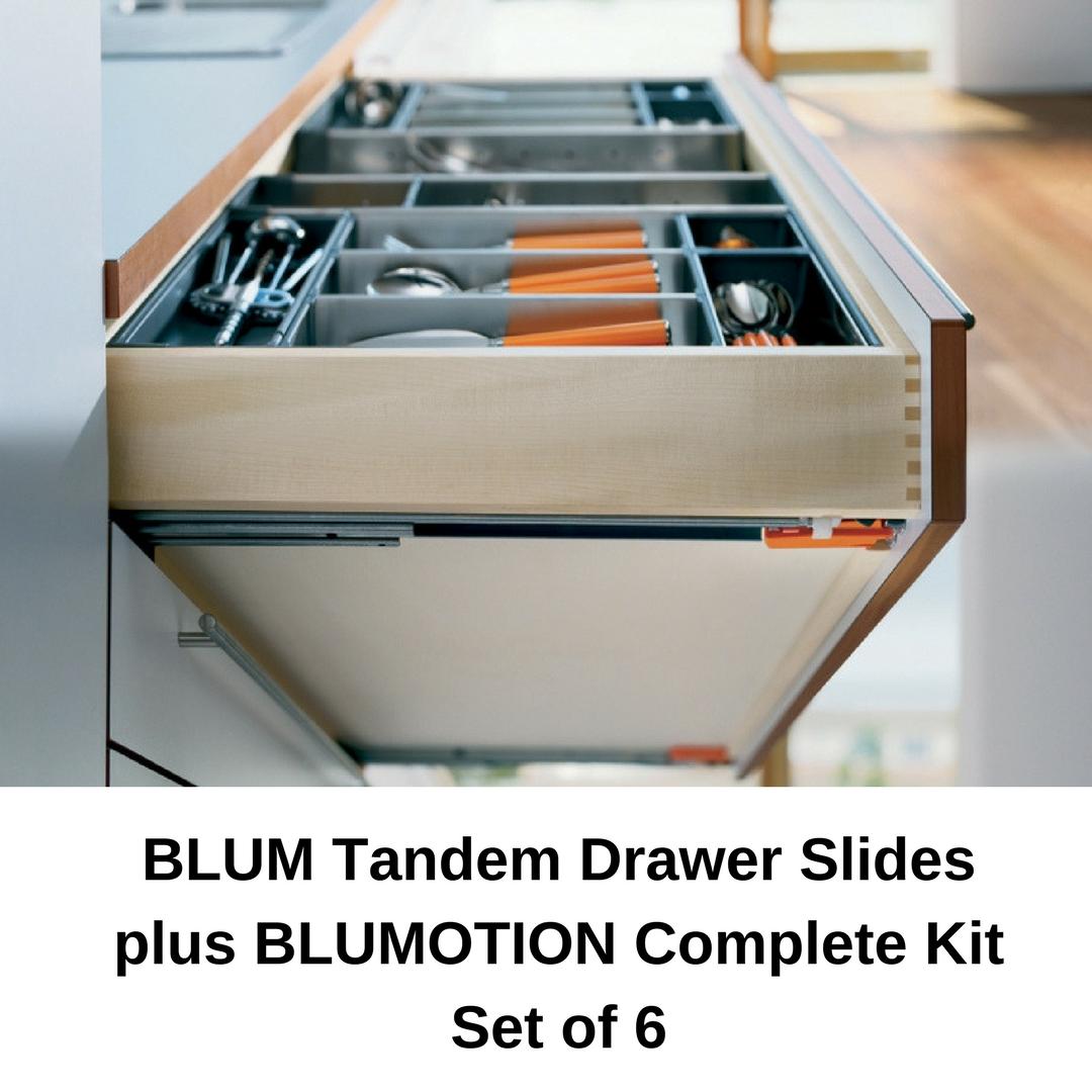 Blum Tandem Plus Blumotion Drawer Slides Complete Kit Drawer Slides Kitchen Cabinet Drawers Drawers