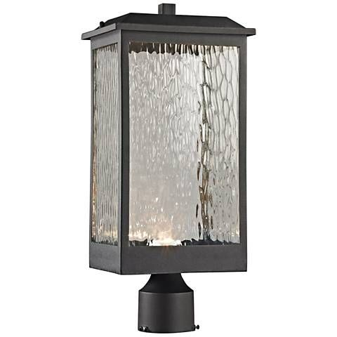 Newcastle 19 High Matte Black Led Outdoor Post Light
