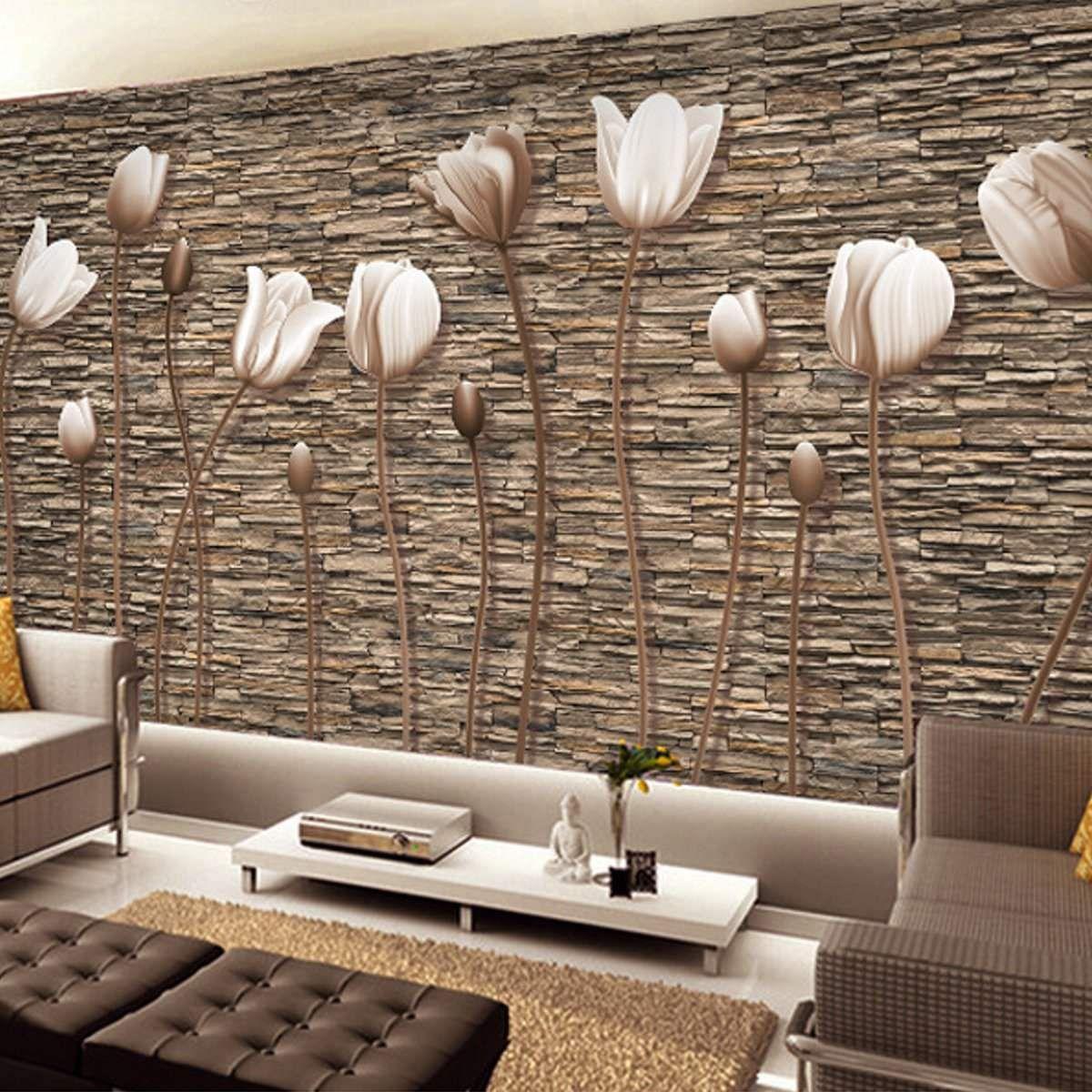 Avikalp Pearl Tulips Photo Wallpaper For Walls 3d Papel De Parede