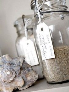 Sand Jars - I'm imagining small versions of this in Kilner spice jars!