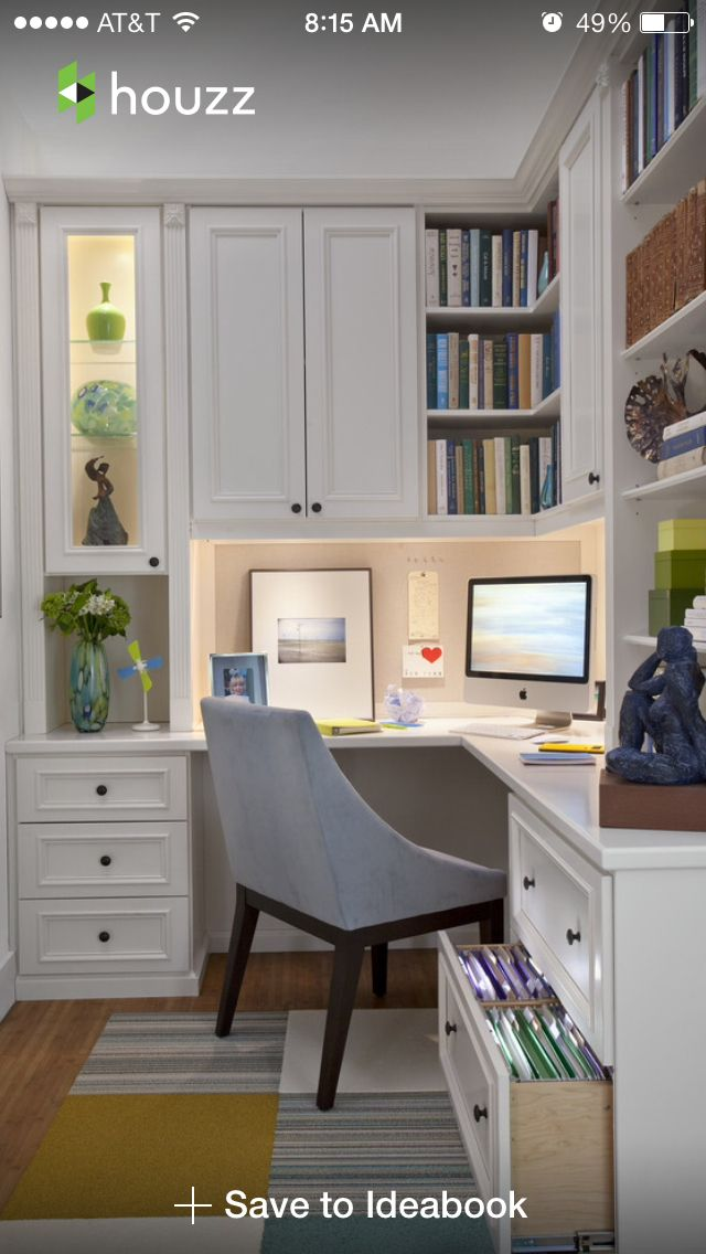 small home office design attractive. Corner Home Office Nook. This Is Great For A Small Home. Waste No Space Design Attractive T