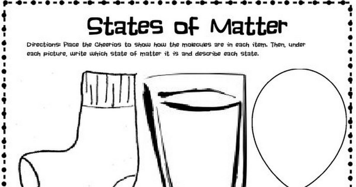 State Of Matter Cheerios Pdf Matter Science States Of Matter Science Lessons