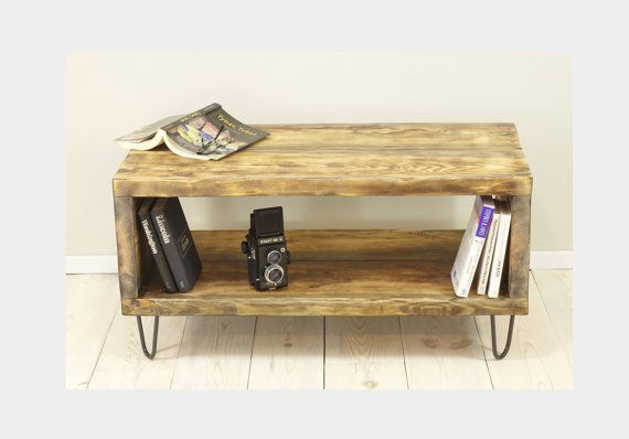Reclaimed Sideboard On Hairpin Legs Small Wood Bookshelf Wooden Box