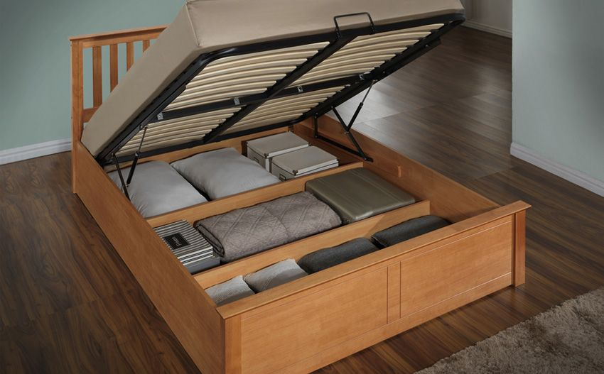 Charmant Phoenix Oak Wooden Ottoman Bed Small Double For Only At Furniture Choice.