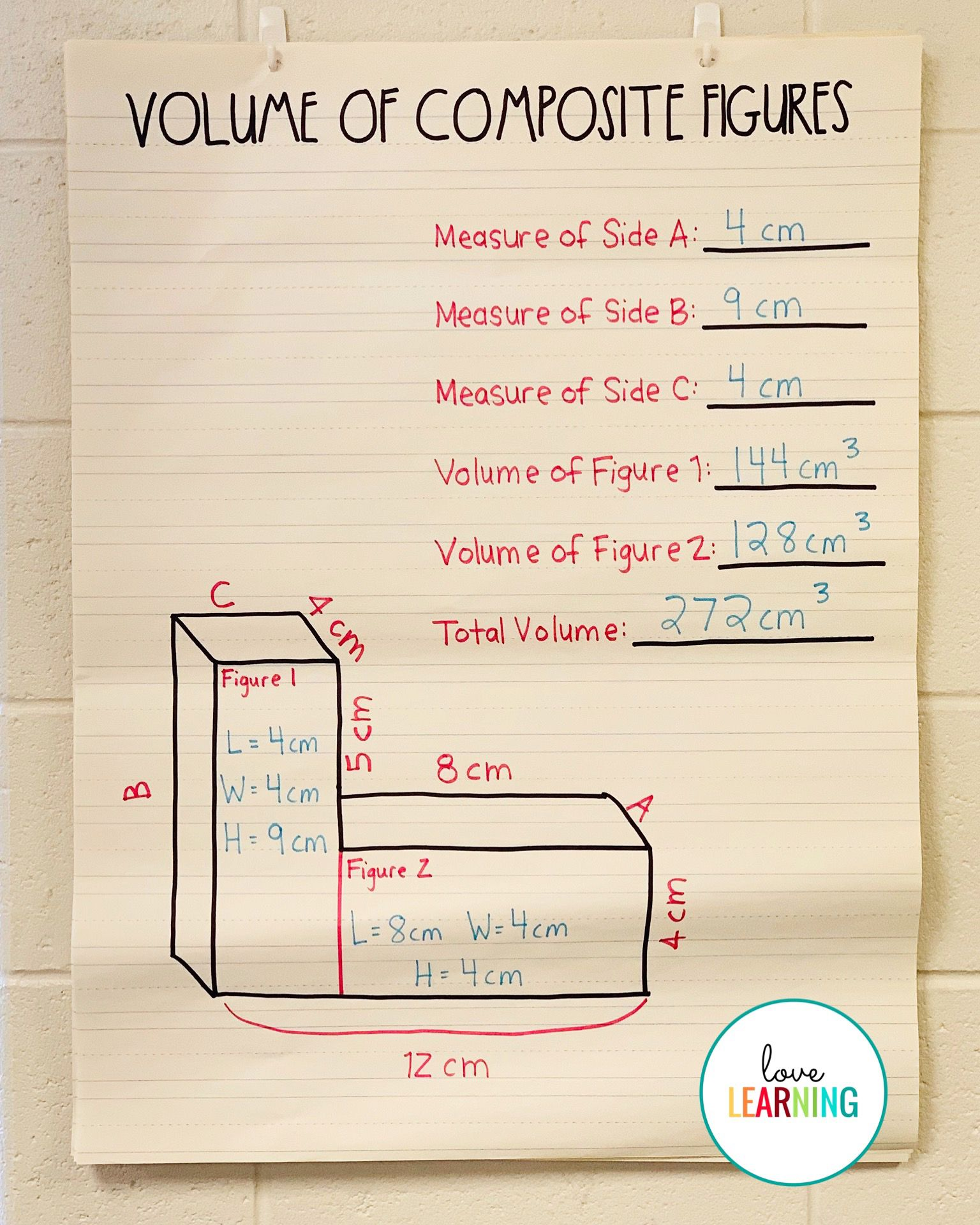 Teach Child How To Read Volume Of Composite Figures