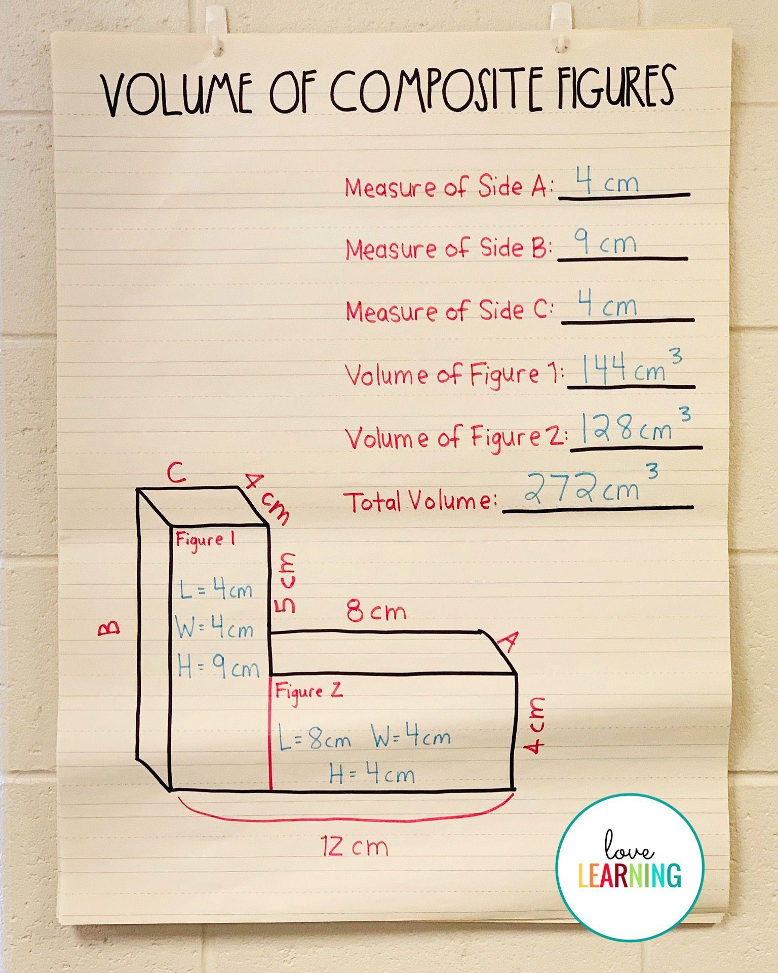 Volume Of Composite Figures Teaching Volume Math Methods Math