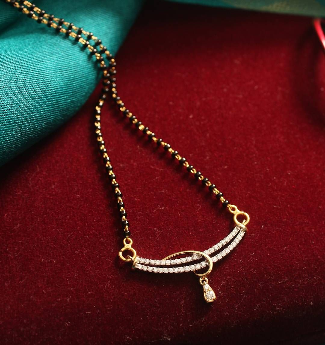 Little thing big feeling gold diamonds mangalsutra