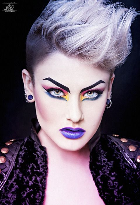Drama Dramatic 80s Over The Top Makeup With Hard Fierce Eyebrows