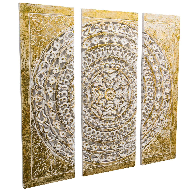 best of home wand objekt ornamentik gold 3 teilig kaufen bei obi wanddekoration bilder dekoration moderne wohnzimmer wanddeko metall blume silber