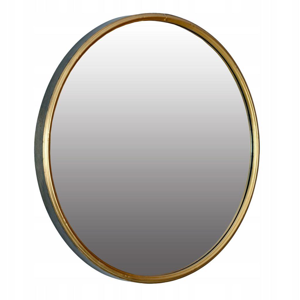 Lustro Okragle Scienne Metalowe Sr 60cm Zlote 7497642764 Oficjalne Archiwum Allegro Mirror Table Mirror Decor