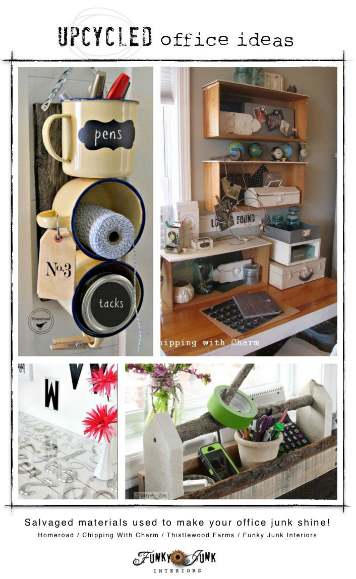 upcycled office storage ideas