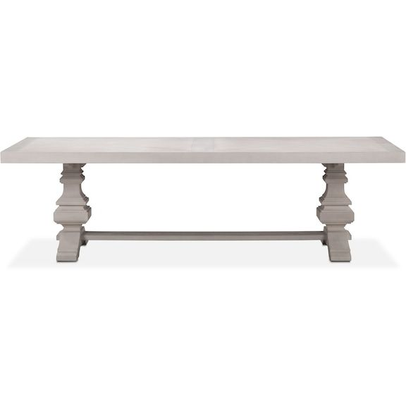 """American Mattress And Furniture Maine: $1399 Lancaster 104"""" Wood Top Table With Urn Base"""