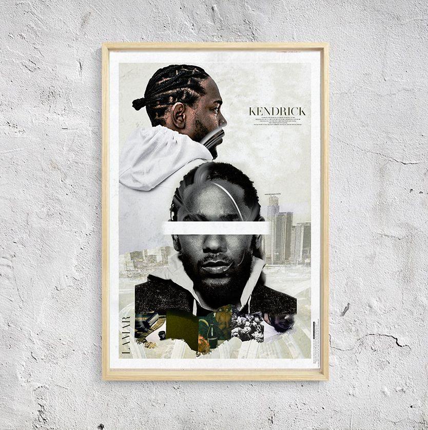 Kendrick Lamar Poster Unique One Of A Kind Hip Hop Print Etsy In 2020 Hip Hop Poster Hip Hop Artwork Hip Hop Print