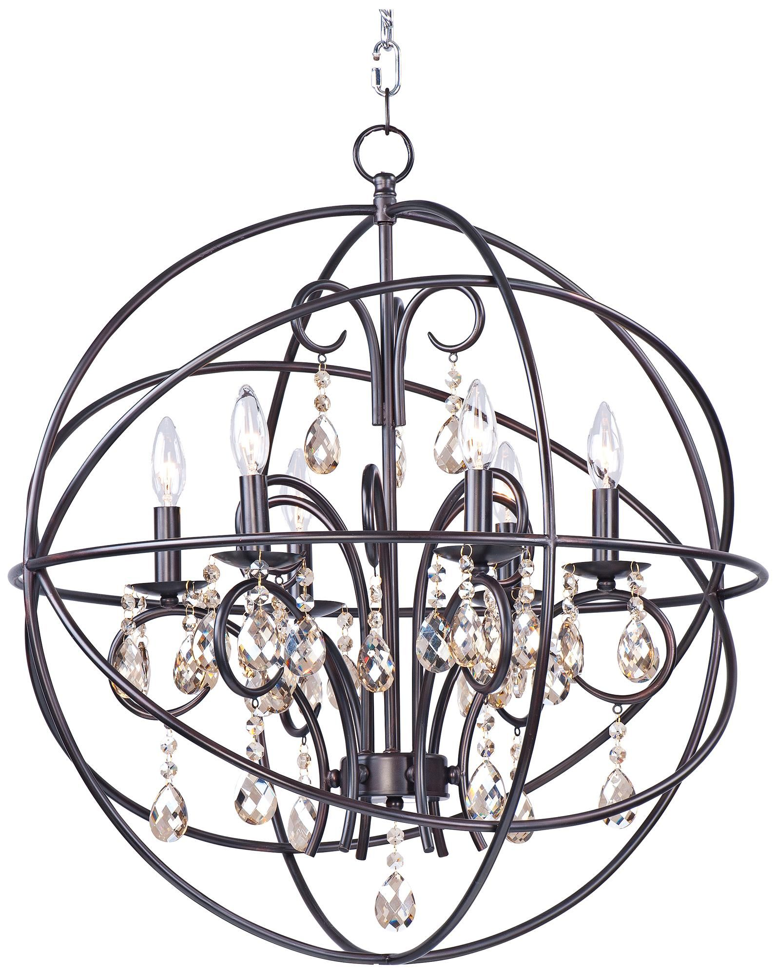 "Maxim Orbit 25"" Wide Oil Rubbed Bronze Orb Chandelier"