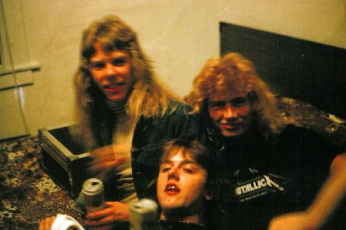 James Hetfield Dave Mustaine And Lars Ulrich 1982 Metallica James Hetfield Metallica Dave Mustaine