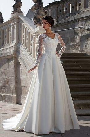 vestido de novia manga larga encaje - Buscar con Google | Vestidos ...