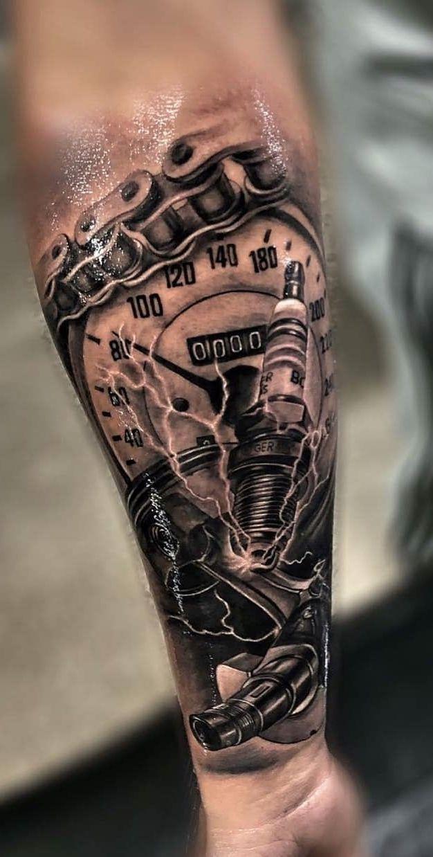Mechanik Czas Tatuaż Tatuaż Z Lwem I Tatuaże Męskie