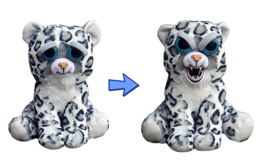 William Mark Feisty Pets Lethal Lena Adorable 8 5 Plush Snow Leopard Animal Dolls Soft Stuffed Animals Plush Animals