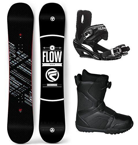 Flow 2018 Gap Mens Complete Snowboard Package Bindings BOA