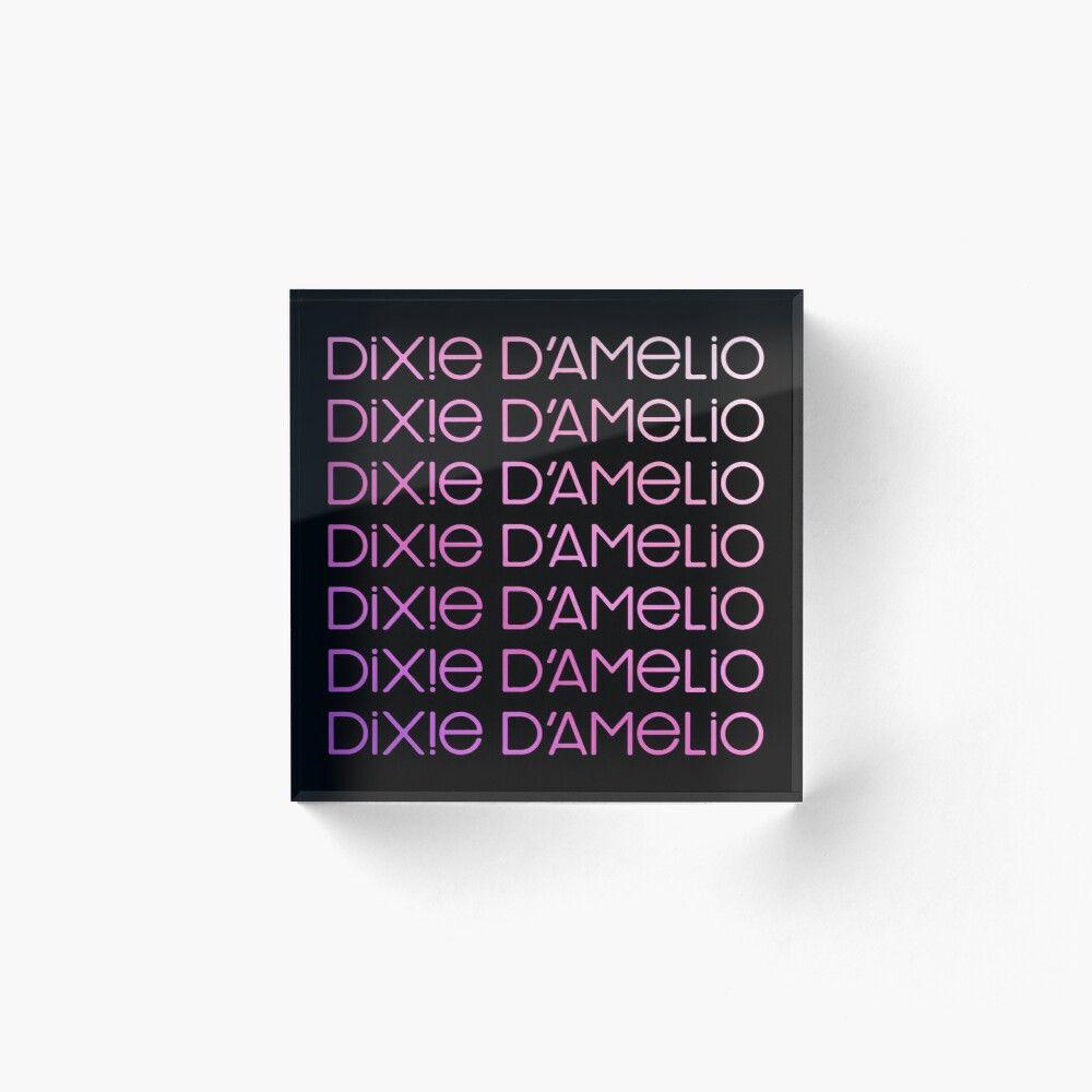 Dixie Damelio Logo Signature Name Pink Rainbow Charli Damelio Hype House Tiktok Dixiedamelio Charliedamelio Dixie Damelio Tiktok Tiktoker Tiktok House