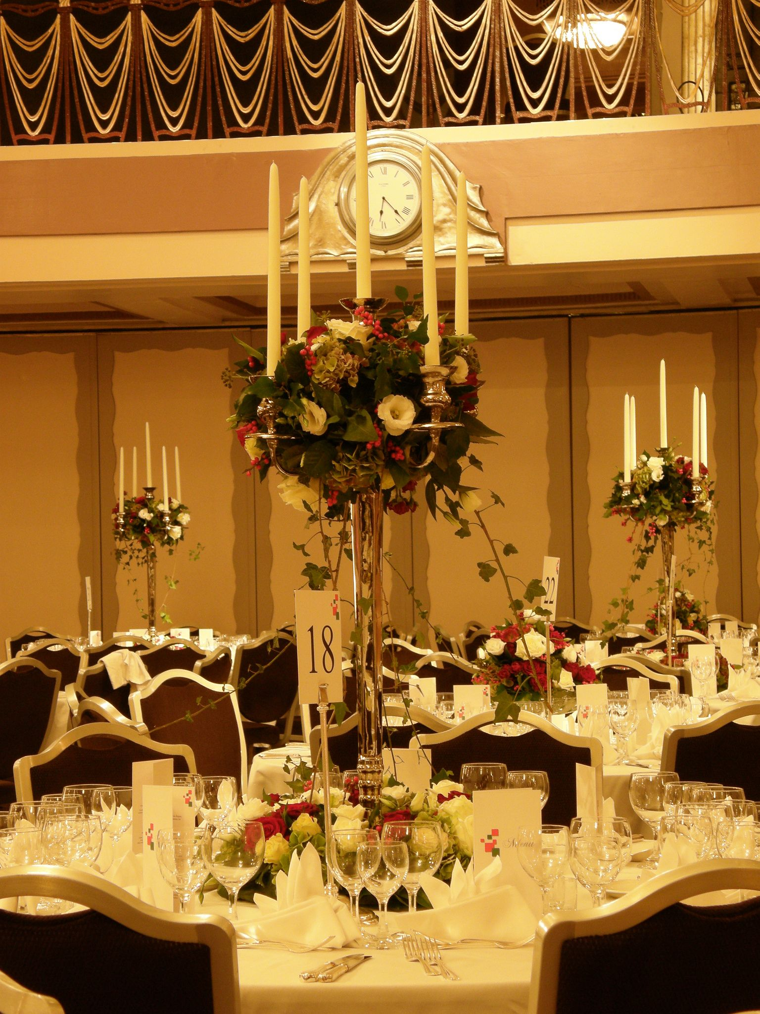 Park Lane Hotel London 98cm Silver Table Candelabraby Www
