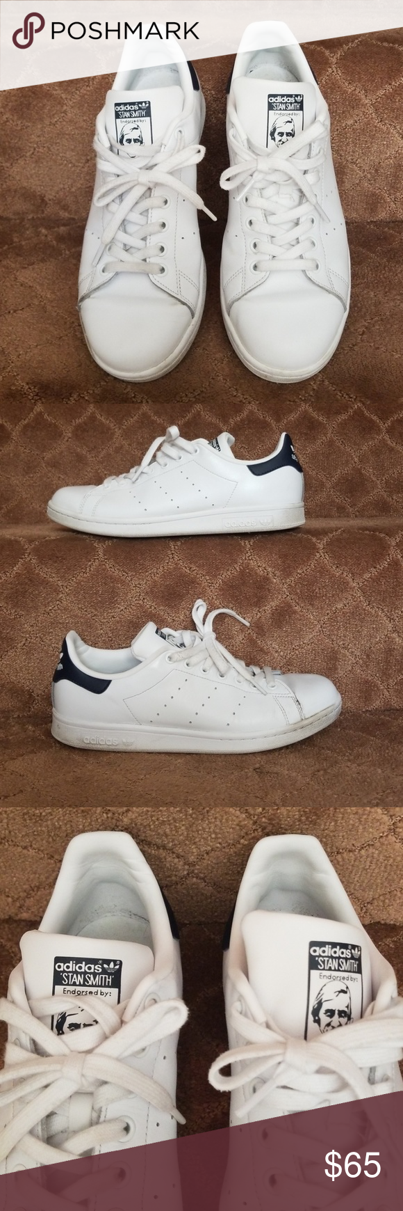a3770f7e5134f8 👟MENS ADIDAS STAN SMITH SNEAKERS 👟 MEN S WHITE ADIDAS STAN SMITH SNEAKERS!  SIZE US 9 FROM MY HUBBY S CLOSET AND HE TAKES GREAT CARE OF HIS SHOES!