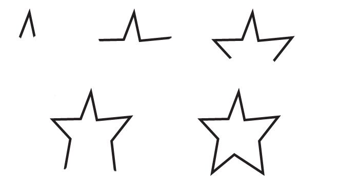 drawing star (With images) | Drawing stars, Easy drawings sketches ...