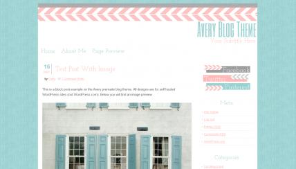 Premade Wordpress Theme - Avery | Pinterest | Wordpress, Template ...