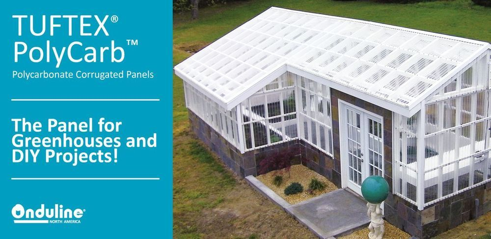 Tuftex Polycarb 2 17 Ft X 8 Ft Corrugated Clear Polycarbonate Plastic Roof Panel Lowes Com Roof Panels Corrugated Diy Greenhouse