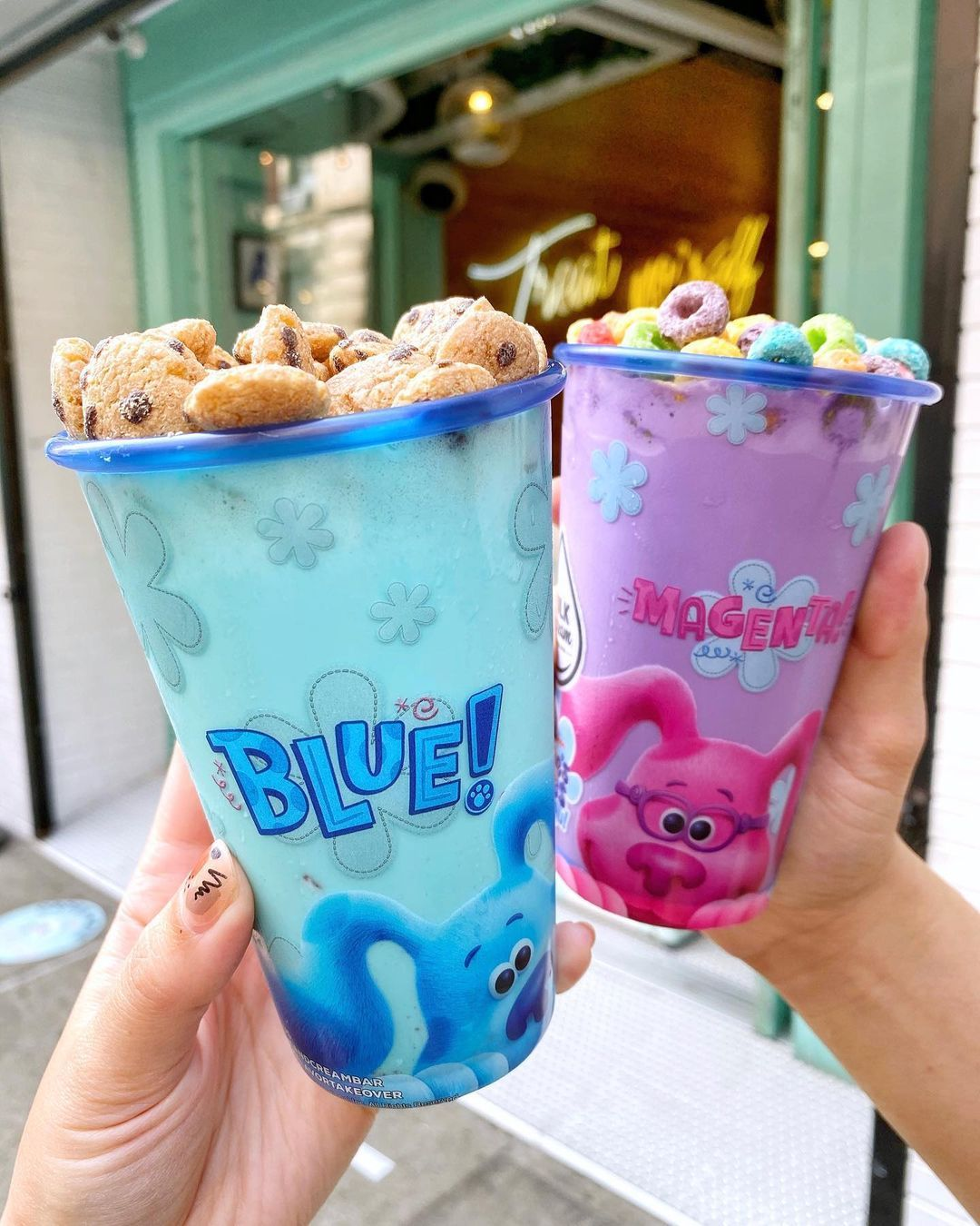 "What Flavor Was Blues Clues Ice Cream : flavor, blues, clues, cream, CREAM, CEREAL, Instagram:, ""MILKSHAKES, Order, Josh's, Ultimate, Surprise, Blue's, Snack, Treat, Cereal, Time,, Milkshake"