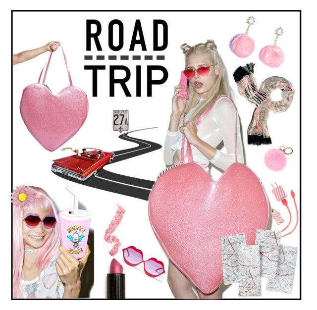 """DollsKill.Com-Roadtrippin"" by scarletj17 ❤ liked on Polyvore featuring Kate Spade, Lime Crime, 3AM Imports, Sugarbaby, ban.do and roadtrip"
