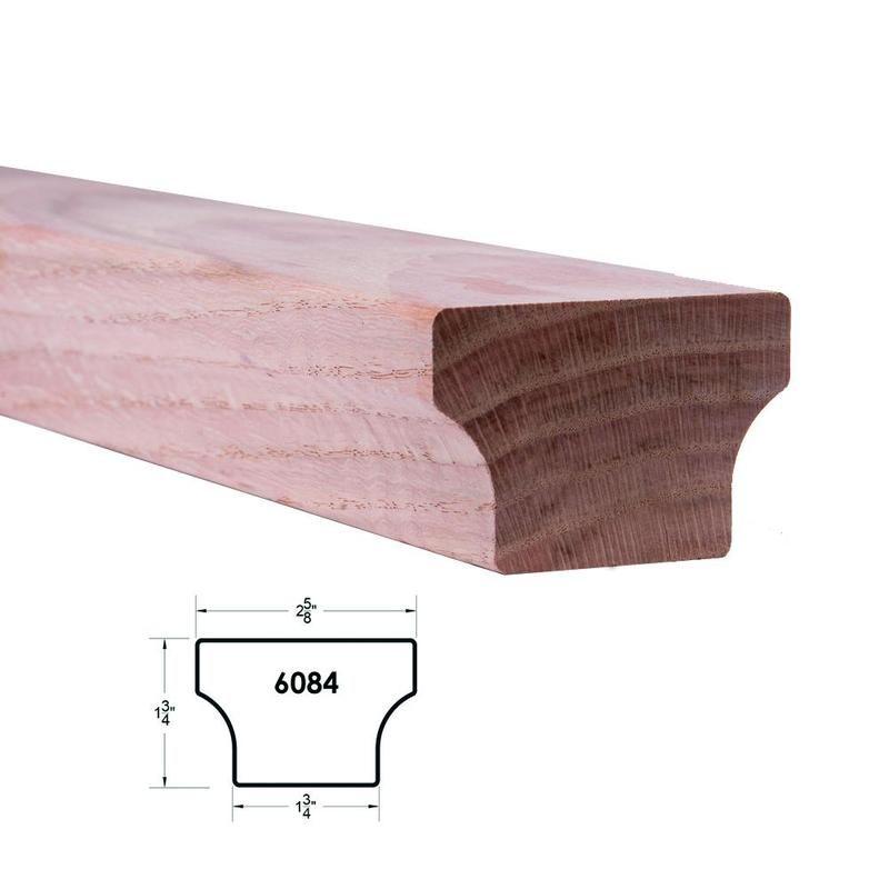 Best 6084 Modern Wood Handrail – Red Oak In 2020 Wood 400 x 300