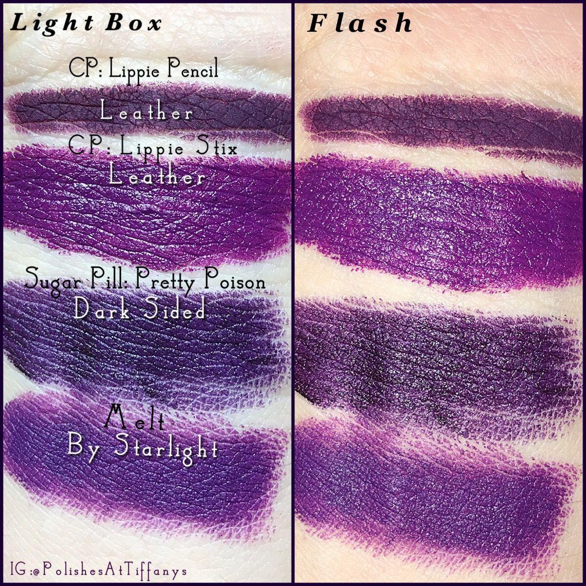 Dark purple lipstick collection. Colour Pop lippie pencil and ...