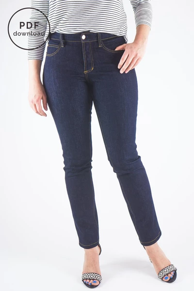 Photo of Ginger Mid-Rise Jeans Pattern