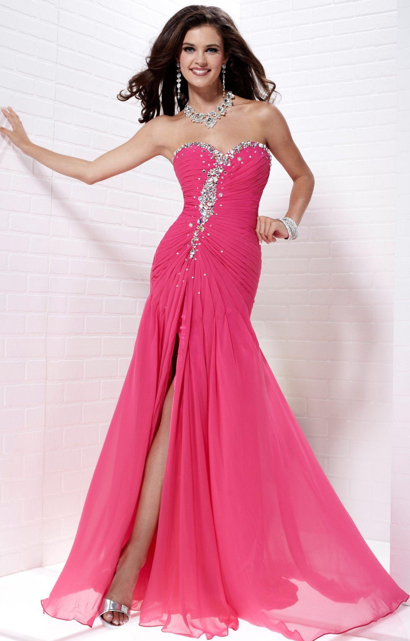 Tiffany 16674 Strapless Fuchsia Size 20 Prom Dress Evening Dress