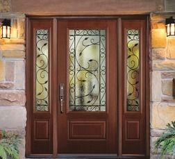 Masonite Belleville Hollister Entry Door With Pergola