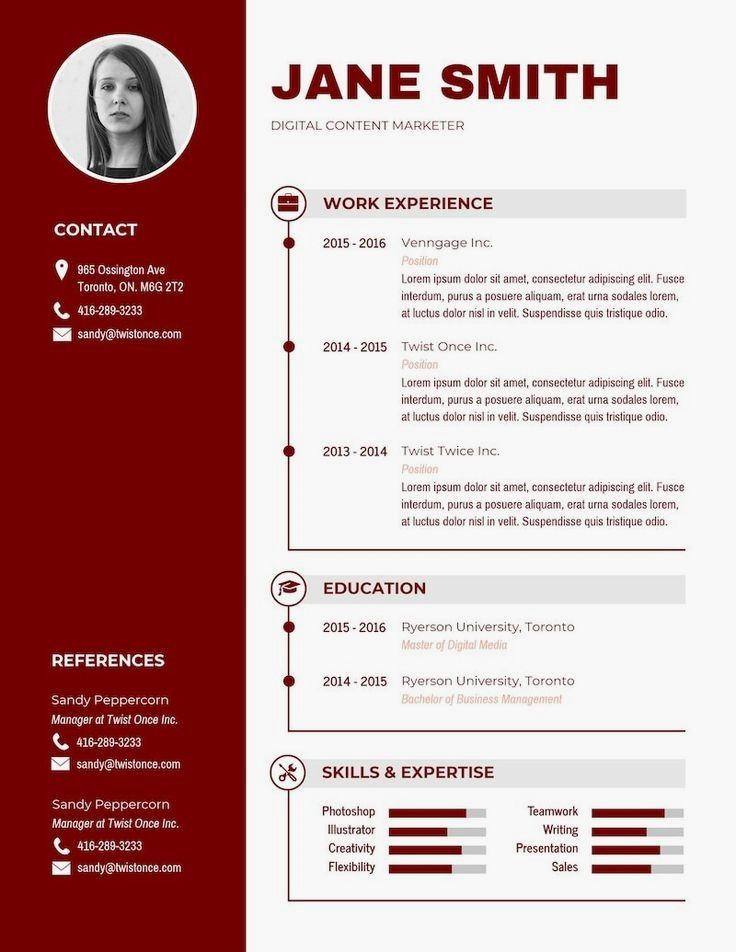 Modern black and white resume in 2020 infographic resume