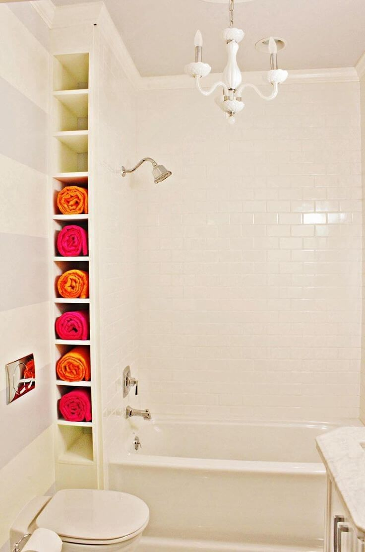 34 Space-Saving Towel Storage Ideas for your Bathroom | Towels ...